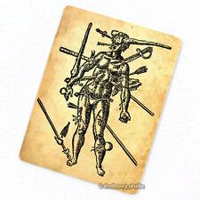 Wound Man Deco Magnet, Decorative Fridge Medieval Era Illustration Oddity Gift