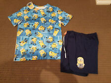 MINIONS ALL OVER PRINT DESPICABLE ME PJ PAJAMAS SET KIDS 12 Authentic *NEW* SALE