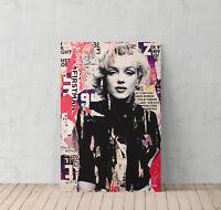 Marilyn Monroe Magazine Style Canvas Print Decorative Modern Wall Art Decor