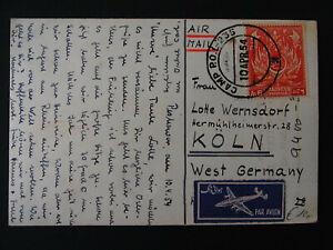Ansichtskarte Luftpost Pakistan Mi.-Nr. 59 nach Köln - b6957