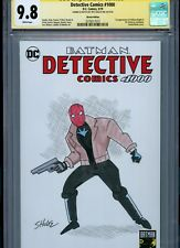 RED HOOD Sketch cover art by JEFF SHULTZ CGC SS 9.8 DC Comics Batman