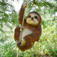 Climbing Sloth Tree Hanging Garden Tree Ornament Statue Sculpture Decoration