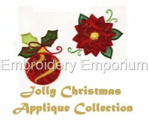 JOLLY CHRISTMAS APPLIQUE COLLECTION - MACHINE EMBROIDERY DESIGNS ON CD OR USB