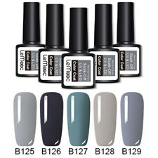 5 Bottles Gray Series Nail Gel Polish Kit Set UV LED Lamp Gel Varnish Grey 8ml