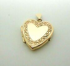 9ct Yellow Gold Hallmarked 1991 Heart Shaped Locket Pendant Free UK Shipping