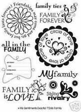 Words & Phrases Rubber Unmounted Craft Stamps