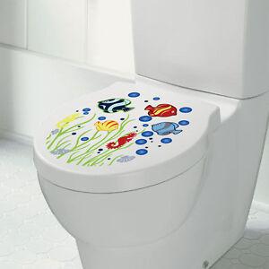 Neu  Toiletten Sticker WC Aufkleber Fisch Toilettensitz !!!