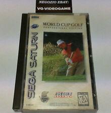 WORLD CUP GOLF (PROFESSIONAL EDITION) SEGA SATURN NTSC