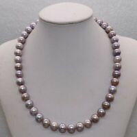 Natural Rare purple 10mm round freshwater pearl Necklace pearl