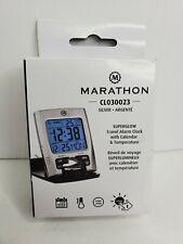 Marathon Alarm Clocks Cl030023 Travel With Calendar Amp Temperature - Battery
