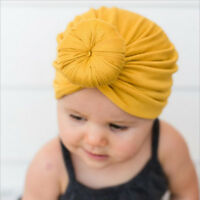 Kids Girls Baby Toddler Turban Hair Band Headwear Knotted Rose Flower Headband