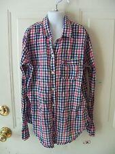 Abercrombie Kid's Plaid Button Up Shirt Top Size Xl Girl's Euc