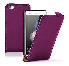 Ultra Slim Violet en Cuir Flip Case Cover Pour Téléphone Portable Huawei P8 Lite 2015