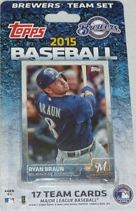 Milwaukee Brewers 2015 Topps Factory Sealed Team Set Ryan Braun Garza Ramirez