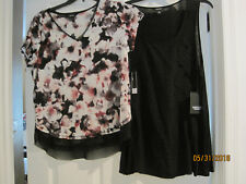 TWO NEW w tags SimplyVera by Vera Wang Shirt Top Blouse Petite L PL Large