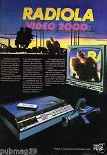 Publicité advertising 1983 TV Hi-Fi Video Radiola Video 2000