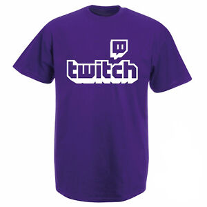 Twitch TV T-shirt - Purple Gaming Top Gamer Tee Fathers Day Sports Fan Gifts