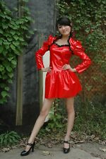 LACKINA--Lack-French Maid,Dienstmädchen KLeid,rot Gr S