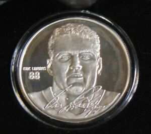 ERIC LINDROS PHILADELPHIA FLYERS 999 FINE SILVER COIN HIGHLAND MINT ROUND 1/5000