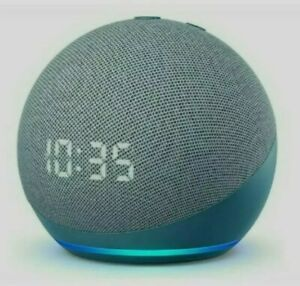 Amazon Echo Dot (4th Gen) Smart Speaker with Clock & Alexa - Twilight Blue