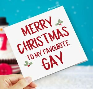 To my favourite Gay / Funny Rude Novelty Witty LGBT Cards / Christmas Card