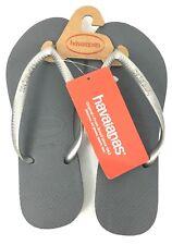d193f66264435 Havaianas 4000030 Women s Steel Grey Slim Flip Flop Wide Sandal 7 8w US 39