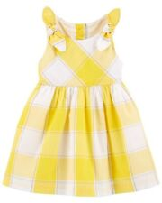 OshKosh Bgosh Toddler Girls Gingham A Line Dress - Yellow...