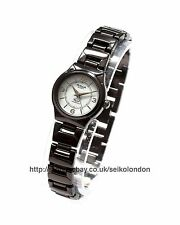 Omax Ladies White Dial Watch, Black Finish, Seiko (Japan) Movt. RRP £49.99