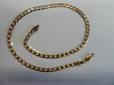 """9 carat Yellow Gold Curb Anklet 5.25 grams 11 1/4"""""""