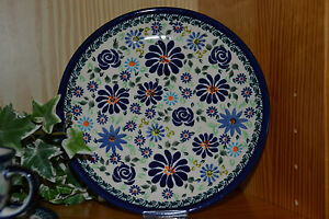 Bunzlauer Keramik Kuchenteller Dek. DU 126 Ø 19,5 cm