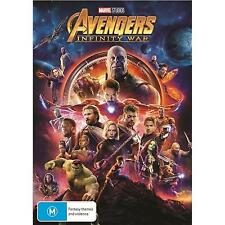 AVENGERS INFINITY WAR DVD, NEW & SEALED, 2018 RELEASE, REGION 4, FREE POST