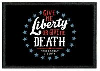 "0031B AIRSOFT MILITARY MORAL PATCH from our ""TIV"" Range - LIBERTY OR DEATH"