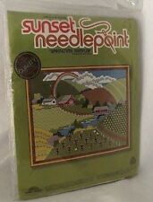 Needlepoint Farm Springtime Sampler Kit Sunset Shupe Country Barn Field NEW