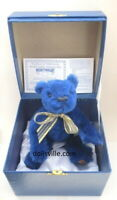 Sapphire Anniversary MERRYTHOUGHT 1995 Blue Mohair Teddy Bear at Dollsville NRFB