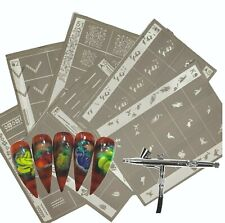 Stencils for Airbrushing in Nail Art Self Adhesive Reusable