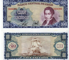 CHILE South America 100 Escudos UNC 1962 p-141