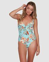 Billabong BNWT Oasis Plunge One Piece Swimsuit Women's Size 10