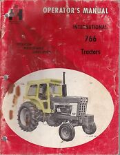 International 766 Tractor Operator's Manual