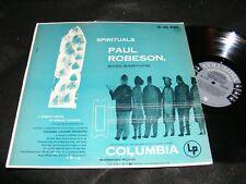 PAUL ROBESON Spirituals COLUMBIA Masterworks Grey 6-eye Label BASS Baritone LP