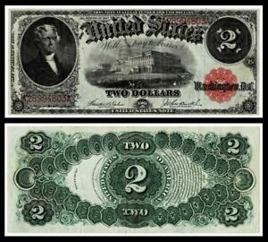 1917 $2 LARGE SIZE~LEGAL TENDER NOTE~~ XF