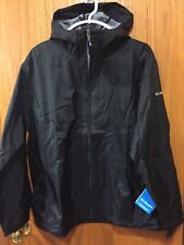 Columbia Women's Plus Waterproof Jacket Packable Hooded Size 1X Black NWT