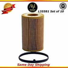 L35581 Oil Filter Set of 10 Audi A4 Quattro TT Volkswagen Golf Jetta 2.0L2.5L