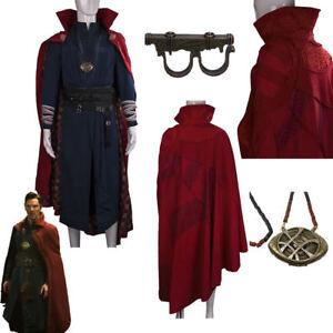 Movie Doctor Strange Full Set Costume Halloween Suit Dr. Strange Cosplay Costume