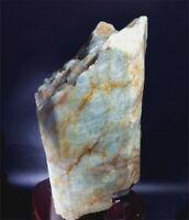 4160g  EMERALD BERYL CRYSTAL Natural Green Rough Gemstone sample +stand  F290