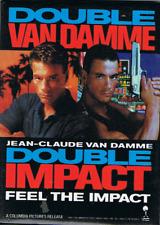 RARE BADGE COLLECTOR : JEAN CLAUDE VANDAMME DOUBLE IMPACT 6,5 x 9 cm IMPORT US