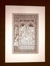 Litografia Natale Natività Breviarum Romanum del 1896 Ristampa