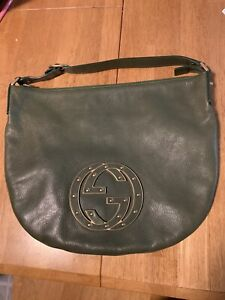 Gucci Green Small Blondie Leather Bag