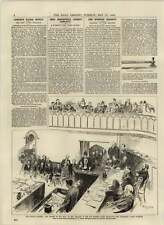 1892 Cucharas de asesinato Miss rounsefell dando evidencia Hacha Y Cuchillo evidencia