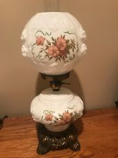 Gone With The Wind Puffy Floral Glass Hurricane Lamp Phoenix