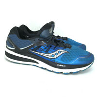 Saucony Mens Triumph ISO 2 S20290-4 Blue Black Running Shoes Lace Up Size 10.5